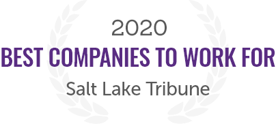 2020 Award for Best Companies to Work for from the Salt Lake Tribune
